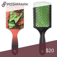 "POISON IVY Bombshell Paddle Hair Brush DC COMICS BOMBSHELLS Poison Ivy Paddle Hair Brush  Condition: New Product Details:   Poison Ivy would never let her hair look a mess, even after the craziest of fights. Keep your coif looking amazing with this plastic hair brush from DC Comics Bombshells with a Poison Ivy themed design.  9 1/4 "" Long Imported DC COMICS Other"