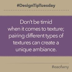 Bravery leads to beauty. When re-doing your living room, look to pair different tones & textures! #DesignTipTuesday #DesignTip #EAofWNY #EthanAllen