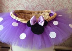 Large Minnie Mouse Themed Tutu Basket Birthday by MissMadelynsBows, $48.00 -- Get some Disney passes and this should bring in $$