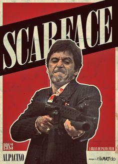 Scarface Vintage Poster by riikardo on DeviantArt Scarface Quotes, Scarface Poster, Scarface Movie, Iconic Movies, Old Movies, Vintage Movies, Posters Vintage, Michelle Pfeiffer, Al Pacino