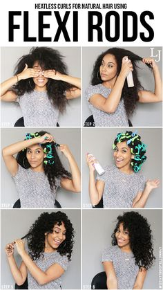 Hair Tutorials : Lynnette Joselly: Heatless Curls for Natural Hair Using Flexi Rods - Beauty Haircut Curly Hair Tips, Curly Hair Care, Natural Hair Tips, Natural Curls, Curly Hair Styles, Natural Hair Styles, Curly Girl, Curly Hair Products, Natural Hair Tutorials