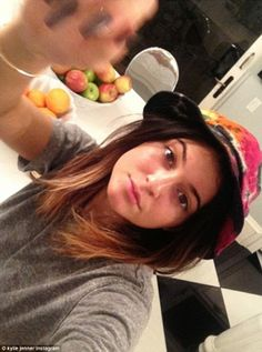 Make up free: Kendall Jenner posted 'no makeup Thursdays partying with @Jordyn Crane Woods in my babies cute Lil' hat'