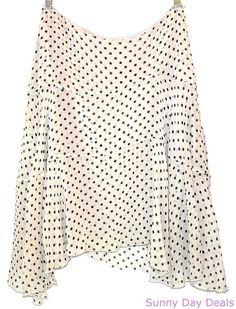 Max Mara Skirt Layered Silk Chiffon Polka Dot Lined Italy Multi-Color MaxMara 10 #MaxMara #Layered