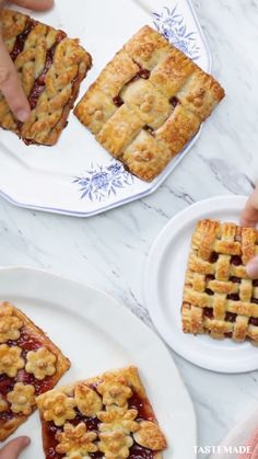 Springtime Strawberry Hand Pies, 4 Ways Filled with sweet berry goodness, these gorgeous mini pies are the perfect treat for spring! The post Springtime Strawberry Hand Pies, 4 Ways appeared first on Welcome! Pastry Recipes, Baking Recipes, Cookie Recipes, Pie Recipes, Puff Pastry Desserts, Drink Recipes, Dinner Recipes, Strawberry Hand Pies, Strawberry Cakes