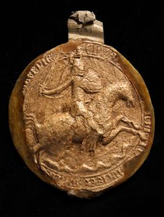 Edward III Great Seal, reverse. 14th Century. National Archives reference:  SC 13/I89. http://discovery.nationalarchives.gov.uk/SearchUI/Details?uri=C3683867
