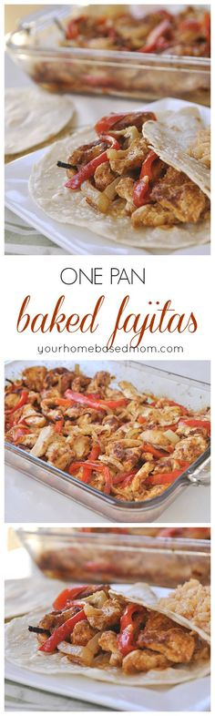One Pan Baked Fajitas are the perfect dinner solution!