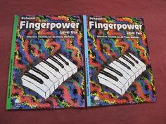 Lot of 2 Schaum Fingerpower Technique Piano Lesson Books Level 1-2 Method
