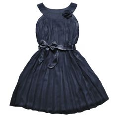 Blue Dress with bow and flower!!