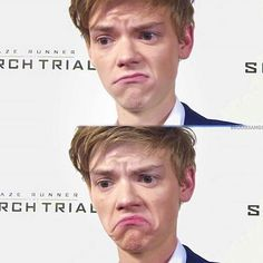 when your celebrity crush comes out gay Maze Runner Cast, Maze Runner Thomas, Maze Runner Series, Dylan Thomas, Dylan O'brien, Cute Actors, Thomas Brodie Sangster, English, Reaction Pictures