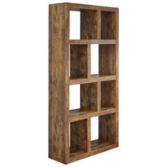 Buy Jakarta Tall Open Shelving Unit - Mango Wood Effect | Bookcases and shelving | Argos