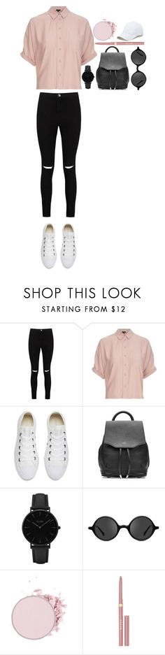 """""""Untitled #402"""" by dutchfashionlover ❤ liked on Polyvore featuring Boohoo, Topshop, Converse, rag & bone, CLUSE, Muse, Stila and Sole Society"""