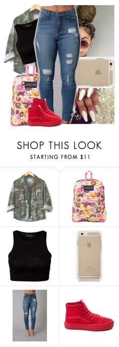"""😚 :: Wednesday"" by theyknowtyy ❤ liked on Polyvore featuring JanSport, Club L and Vans"