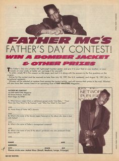 Father MC's Father's Day Contest [Rap Masters...1991