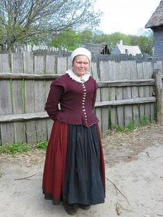This is the kind of clothing I think many of the female servants would be wearing.  17th century working class