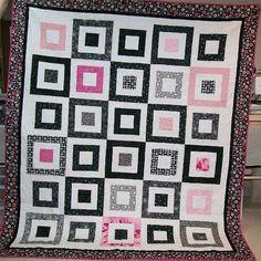 Log Cabin variation: Good & Plenty finished by Piecemeal Quilts, via Flickr