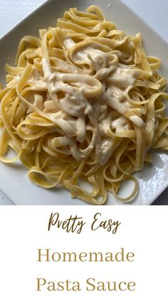 Homemade Pasta Sauce Easy, Easy Pasta Sauce, Unique Recipes, Delicious Recipes, Yummy Food, Pasta With Alfredo Sauce, Sauce Recipes, Sauces, Dips