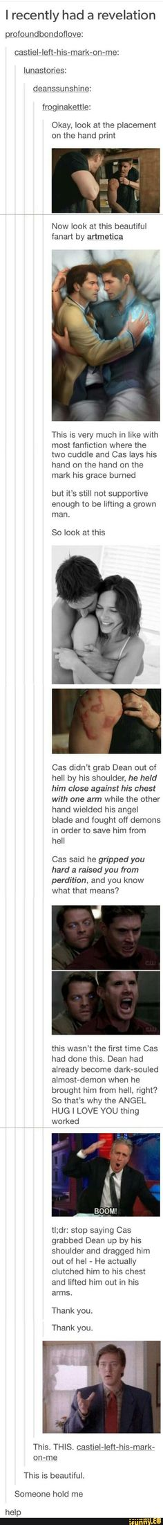 Yeah, tbh honest if Cas had done it the other way he would have dropped Dean.