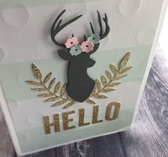 projects ideas dear head. Deer head die  10170 Personalised stag kraft christmas card Stag Cards and