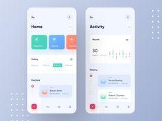 Gesundheits App - New Ideas Flat Design, Web Design, App Ui Design, Dashboard Design, Mobile App Design, Interface Design, User Interface, Design Layouts, Gesundheits App