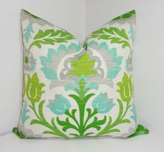 OUTDOOR Pillow Cover Bright Colorful Waverly Santa by HomeLiving