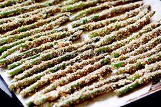 chrumkavá pečená špargľa s bylinkovým dressingom
