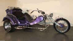 Purple Trike Motorcycle