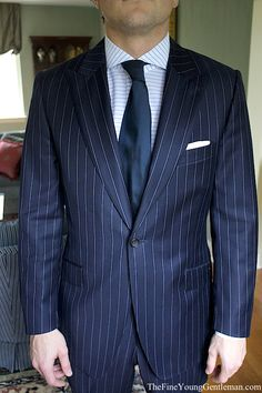 Horizontal Striped shirt <3 pinned for the suit...LOVE a beautiful navy pinstripe suit!<3
