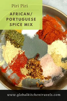 Piri Piri - Mozambique Spice Blend - Piri Piri is a spice blend used in many Portuguese colonized countries from Mozambique to Brazil and in Portugal itself. This 12 spice blend is so versatile and will add so much flavor to everything from grilled chicken to roasted potatoes.#africanfood #spiceblend #seasoning #homemade #recipes #mozambique #portuguesefood