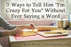 "5 Ways to Tell Him ""I'm Crazy For You"" Without Ever Saying a Word - Time-Warp Wife I love her phrase ""horizontal fellowship"" lol! Biblical Marriage, Marriage And Family, Marriage Relationship, Happy Marriage, Marriage Advice, Love And Marriage, Relationships, Love My Man, Love My Husband"