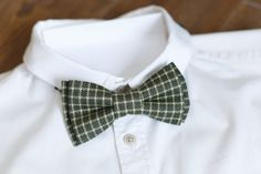 Birthday gift Wool Green Plaid bow tie Bow tie for men Gift