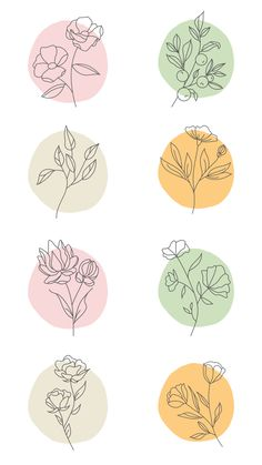 Iphone Background Wallpaper, Aesthetic Iphone Wallpaper, Aesthetic Wallpapers, Line Art Flowers, Flower Art, Simple Wallpapers, Flower Doodles, Floral Illustrations, Watercolor Cards