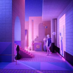 Rêverie - I had the chance again to work with the buddy recently ! Changing style with the structures Aesthetic Space, Aesthetic Room Decor, Purple Aesthetic, Retro Aesthetic, Aesthetic Dark, Space Grunge, Vaporwave Art, Neon Room, Retro Waves
