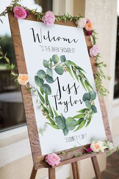 Eucalyptus Baby Shower Welcome Sign (DIY Print)
