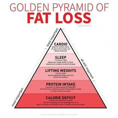 Golden Pyramid of Fat Loss! Have you been spinning your wheels trying to lose fat? For so long I focused on the wrong thing. I wasn?t tuned into my diet I was doing boatloads of cardio not lifting weights drinking skinny teas and taking fat burners. Weight Loss Challenge, Weight Loss Plans, Best Weight Loss, Losing Weight Tips, Weight Loss Tips, How To Lose Weight Fast, Weight Gain, Body Weight, How To Loose Fat