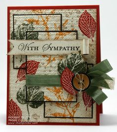 Triple Time Stamping, French Foliage, Fall card.