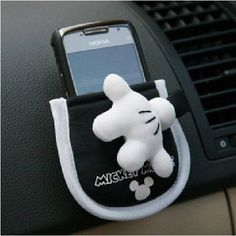 Mickey Mouse Car Auto Cellphone Holder Storage Case