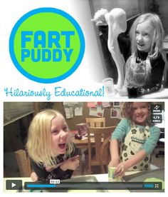 {Fart Puddy} Did you know goop, gak, flubber, whatever you wish to call it... can be used to create hilariously loud fart noises. lol. Perhaps I am the only parent who will find this thoroughly amusing. Cest la vie. :-) Check out the video. I double dog dare you to watch it without cracking a smile. So cool: http://letslassothemoon.com/2012/04/24/goofy-goop/ *I think as parents we forget to laugh with our kids. That's me cackling in the background of the video. ;-)