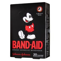 Band-Aid Brand Adhesive Bandages Collector Series featuring Disney Mickey Mouse for Kids, Assorted Sizes, 20 ct Bandage, Johnson And Johnson, First Aid Kit, Disney Mickey Mouse, The Ordinary, Stocking Stuffers, Just In Case, Collection, Crafts