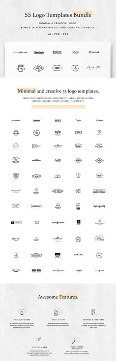 55 Logo Templates Bundle by Spensers Family on @creativemarket
