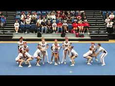 Mill Creek High School Varsity Coed Competition Cheer - 2015 GHSA Cheerleading State Regionals - YouTube