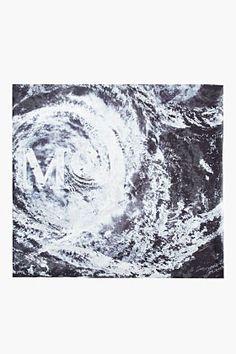 MCQ Alexander McQueen | Deep purple and off-white Hurricane Scarf