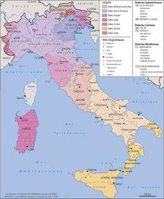 Carte des langues d'Italie