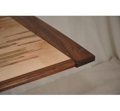 Contemporary Ambrosia Maple & Walnut Dining Table