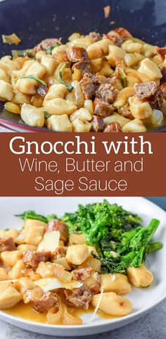 Gnocchi with Sauce! But not just any sauce! It's a wine, butter and sage sauce and it goes spectacular on this gnocchi dish! #gnocchi #winebuttersagesauce #gnocchisauce #pasta #dishesdelish https://ddel.co/gws via @dishesdelish