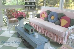 On the Porch by Blooming In Chintz www.bloominginchintz.blogspot.com