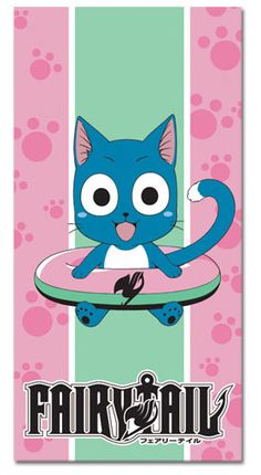 Towel - Fairy Tail - New Happy Toys Beach/Bath Anime Multi Fairy Tail Cat, Fairy Tail Happy, Fairy Tail Anime, Fariy Tale, Cute Creatures, I Love Anime, Photos, The Incredibles, Cosplay