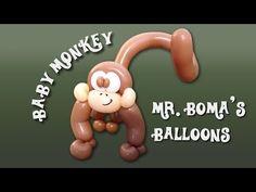 Baby Monkey Balloon Animal Tutorial (Balloon Twisting and Modeling #11.2 ) - YouTube