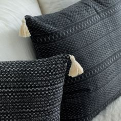 Black and White Patterned Pillows