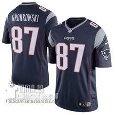 Camisetas Nfl Baratas Gronkowski New England Patriots #87 Azul Marino  €32.9