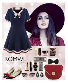 """Romwe 5"" by amra-f ❤ liked on Polyvore featuring Accessorize, Balenciaga, Larsson & Jennings, Urban Decay, By Terry and Yves Saint Laurent"